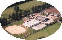 An aerial view of Hayfield Riding Centre